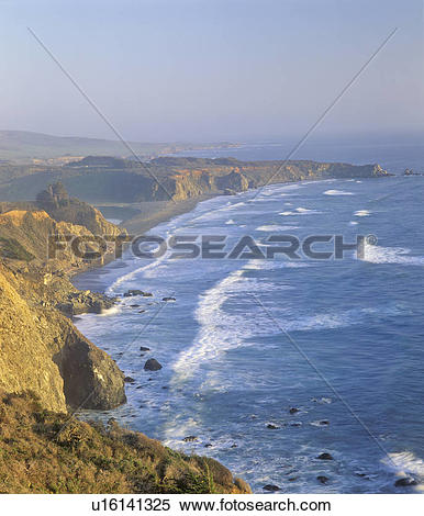 Stock Image of View of the Pacific Ocean from the Pacific Coast.