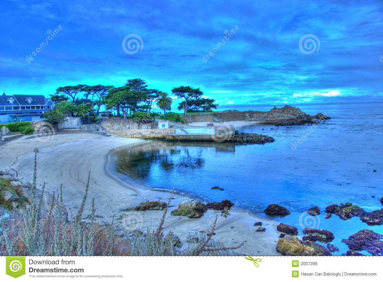Lover's Point At Pacific Grove, California Royalty Free Stock.