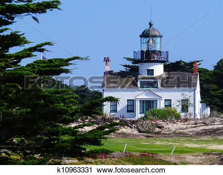 Stock Photography of Lighthouse in Pacific Grove,CA k10963331.