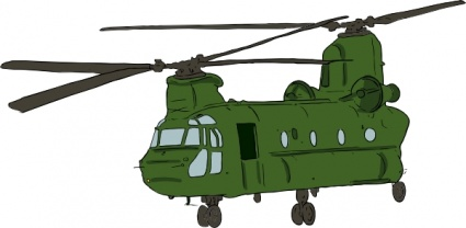 Chinook Helicopter clip art free vector.