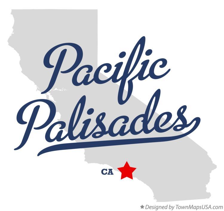 Map of Pacific Palisades, CA, California.