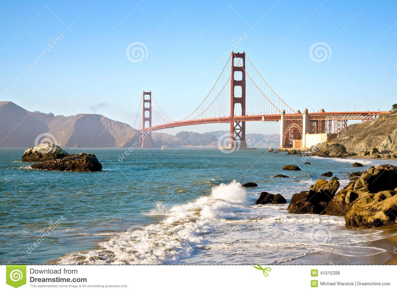 Baker Beach, San Francisco Royalty Free Stock Photography.