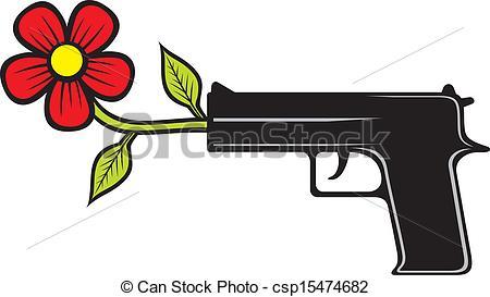 Vecteurs de arme, pacifiste.