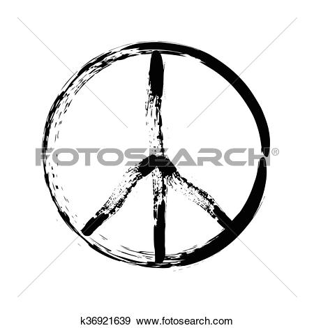 Clip Art of peace symbol icon vector friendship pacifism k36921639.