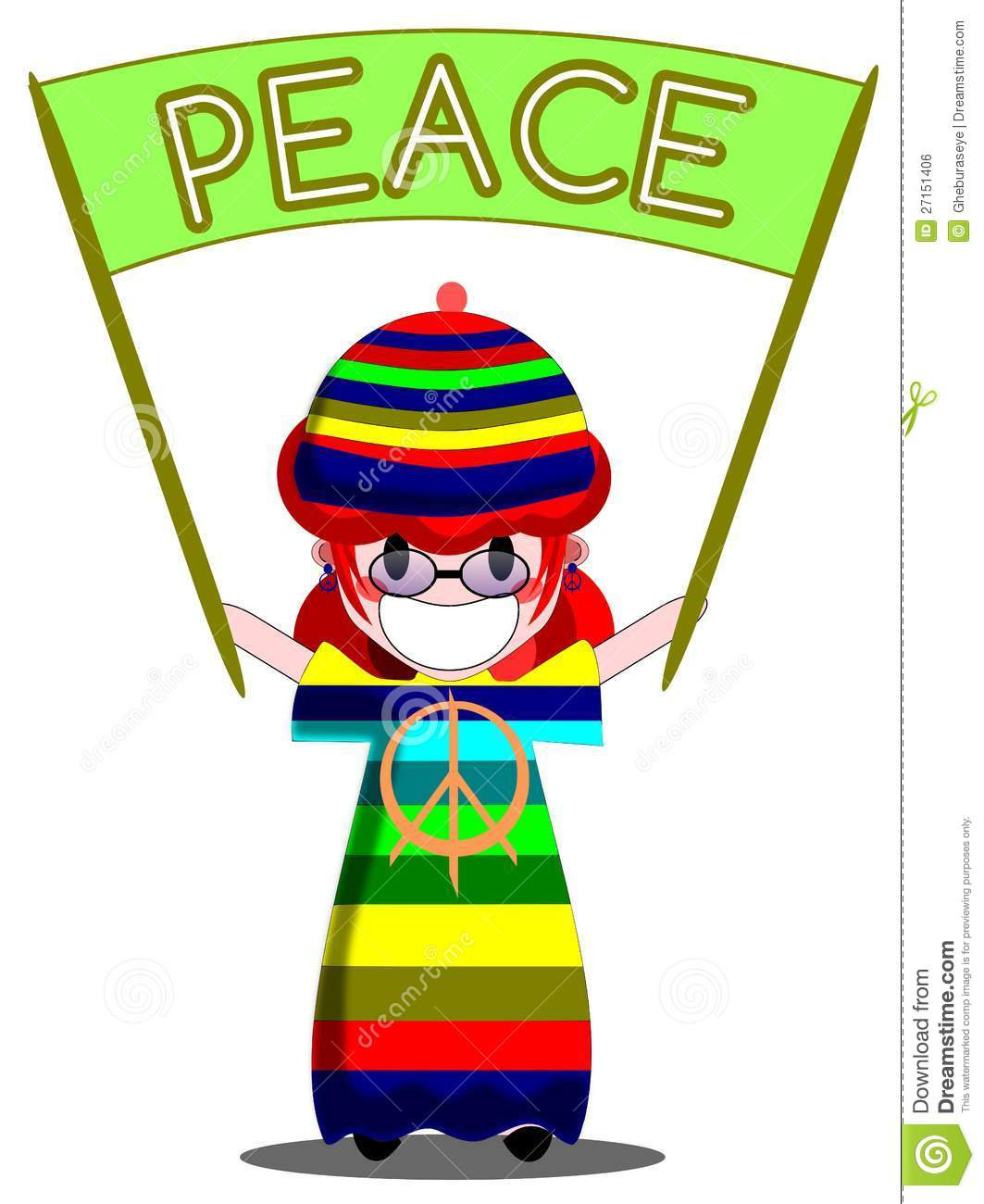 Pacifist Girl Royalty Free Stock Image.