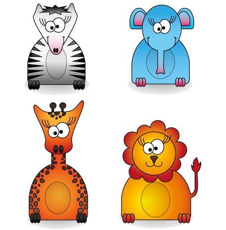 Zoo Animals Free Vector Pack, Vectors.