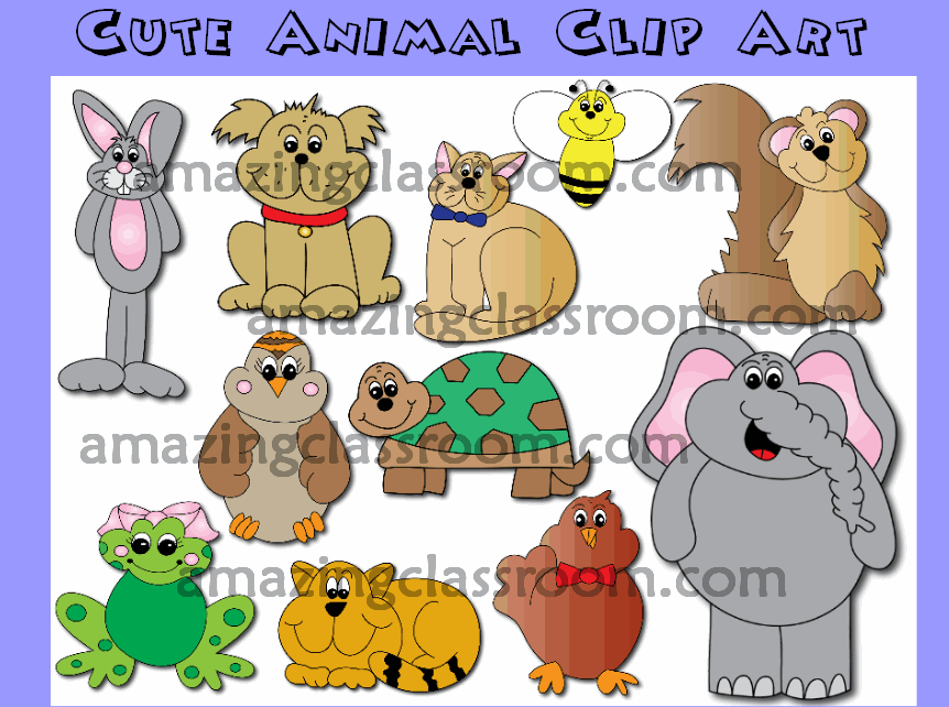 Clip Art Animals Here To Help Clipart.