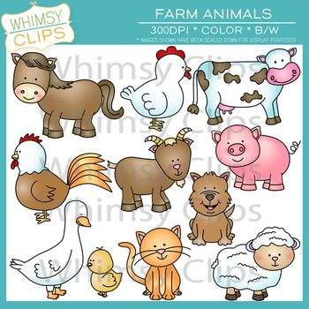 Farm Animal Clip Art.