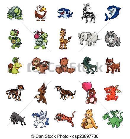 Vectors of Big set mega pack animals collection csp23897736.