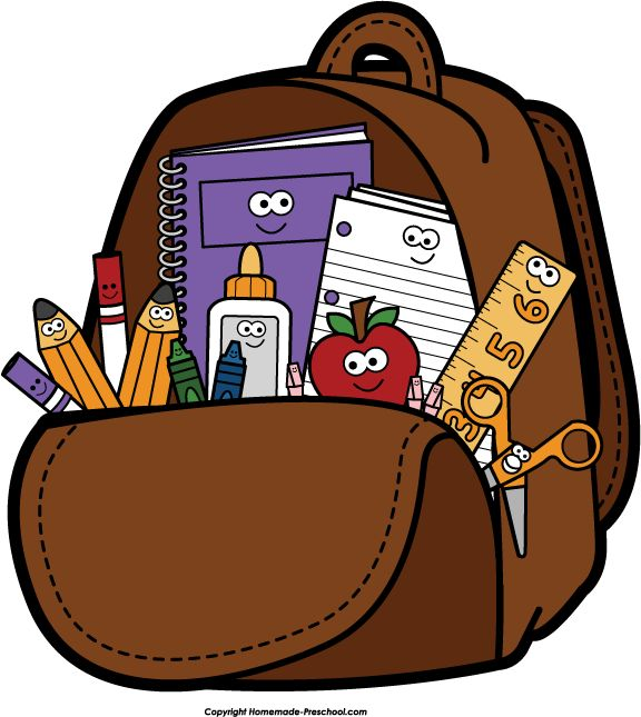 Pack backpack clipart 5 » Clipart Station.