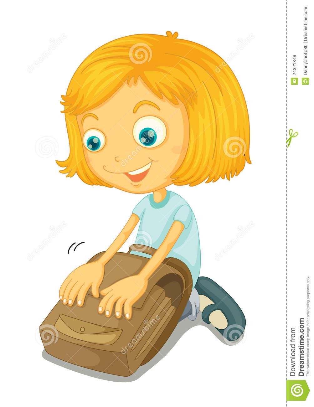 School Back Bag Clipart.