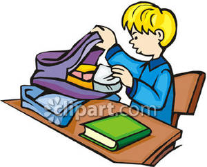 Student pack up clipart.
