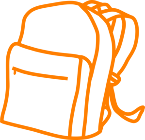 Orange Back Pack Clip Art at Clker.com.