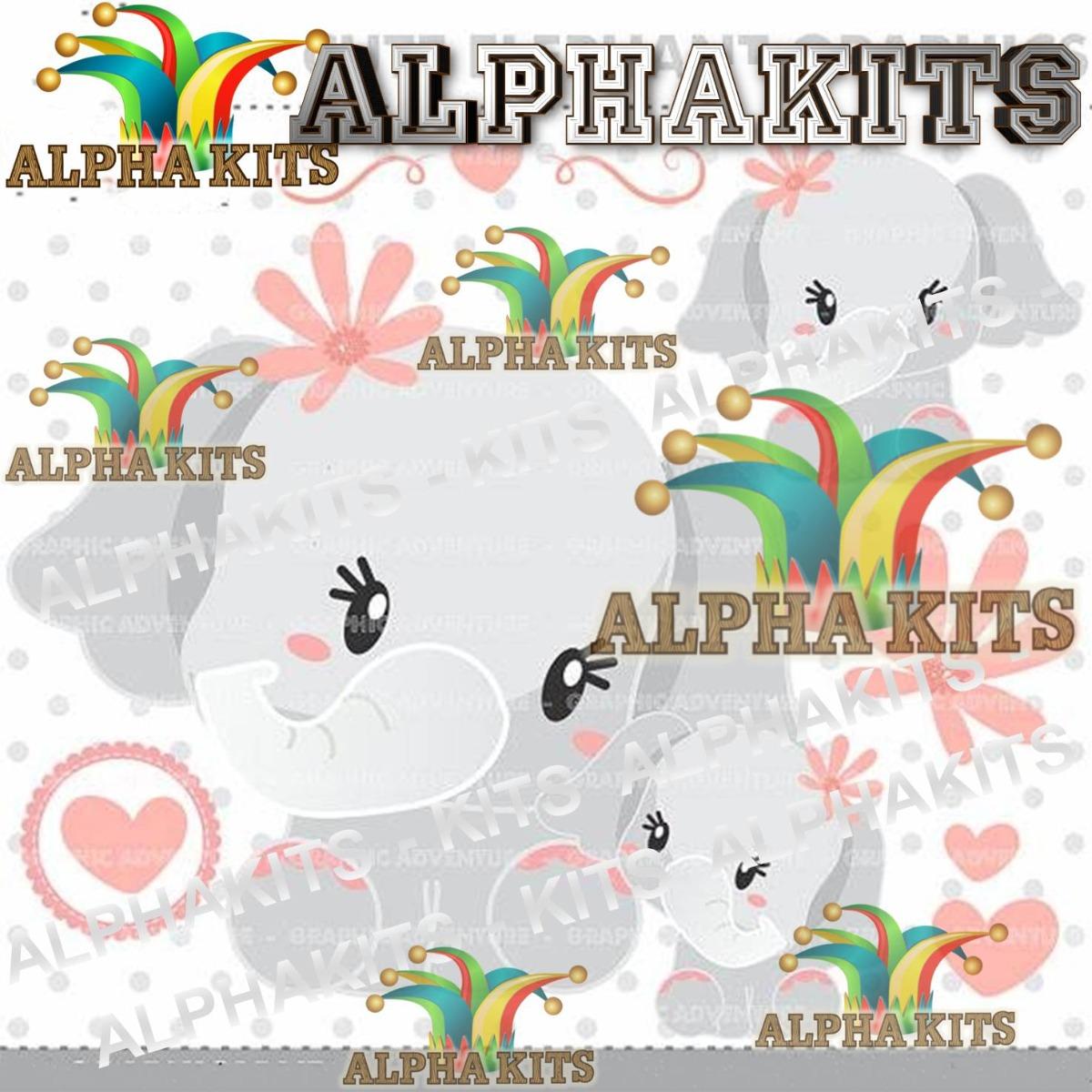 Kit Imprimible Pack De Imagenes De Elefante Baby Clipart.