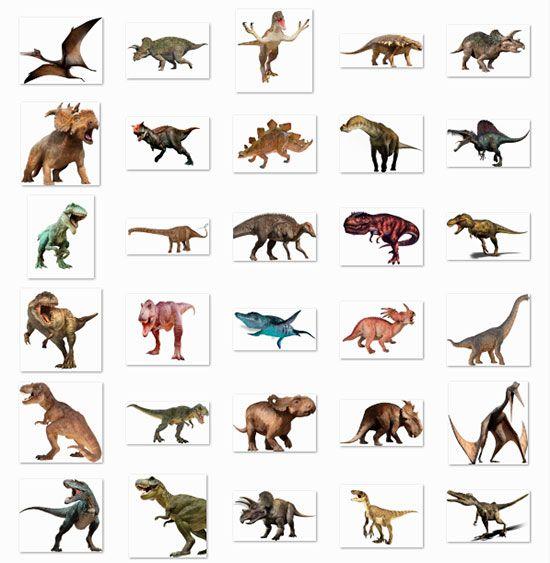 Pack de 30 Imágenes PNG de Dinosaurios (imágenes sin fondo.