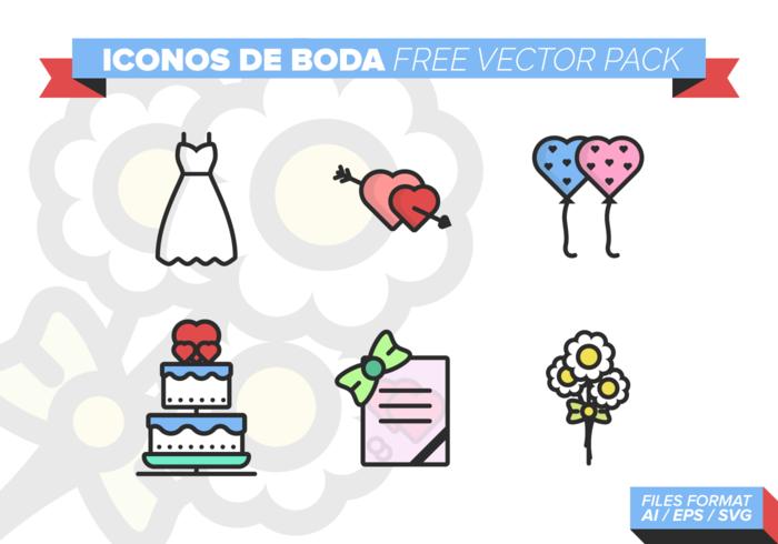 Iconos de Boda Free Vector Pack 3.