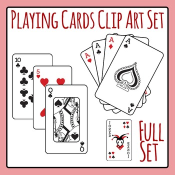 Playing Cards Full Deck Clip Art Pack for Commercial Use.
