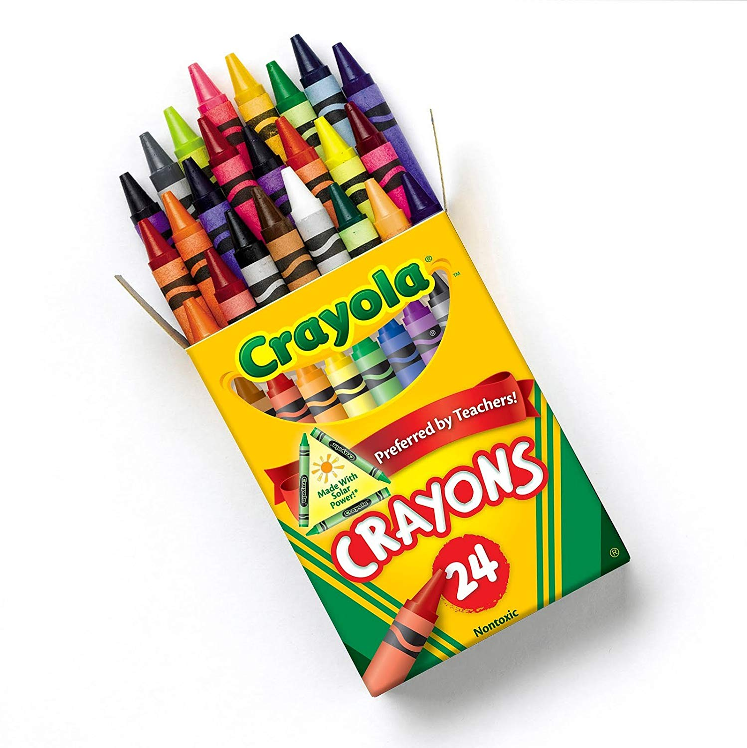 Crayola Crayons, 24 Count, 2 Pack and Crayon and Pencil Sharpener.