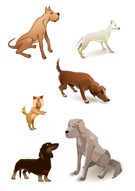 Free Clipart: Dogs pack.