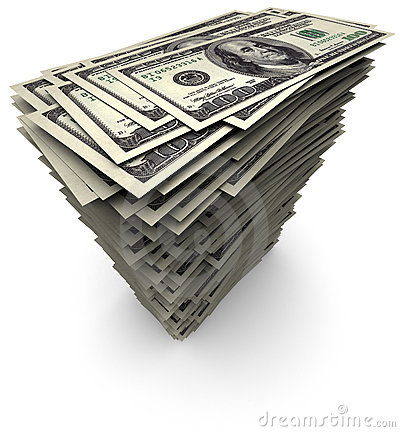One Hundred Thousand Dollars Bills Stack Stock Photos, Images.