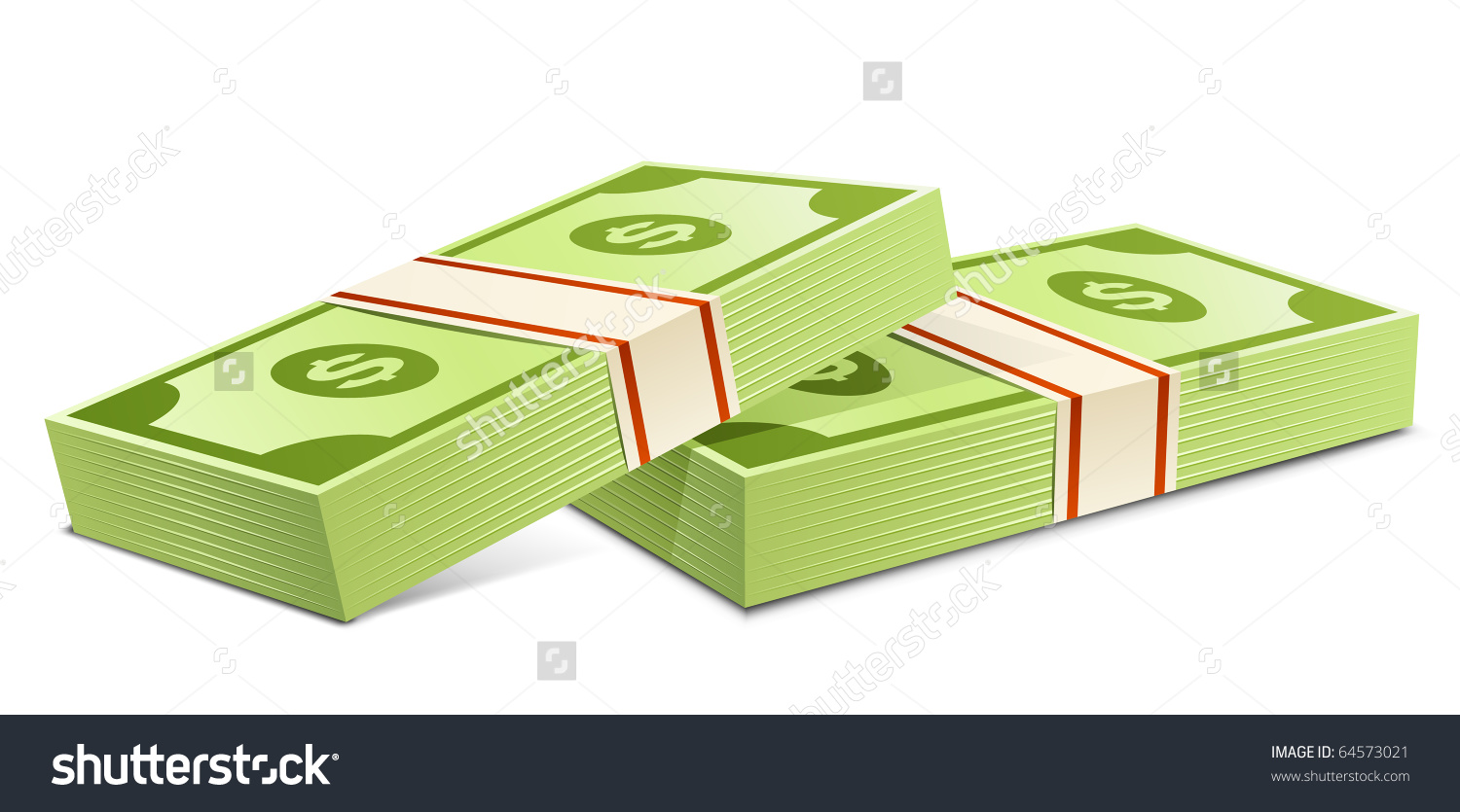Pack Dollars Vector Illustration Packs Dollars Stock Vector.