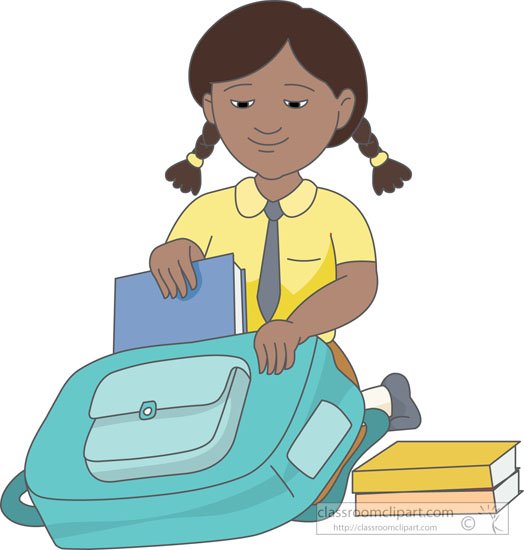 Pack School Bag Clipart.