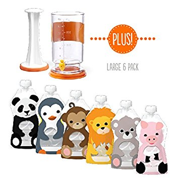 Amazon.com : The Squooshi Filling Station + Large 6 Pack : Baby.