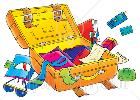 Packing Luggage Clipart.