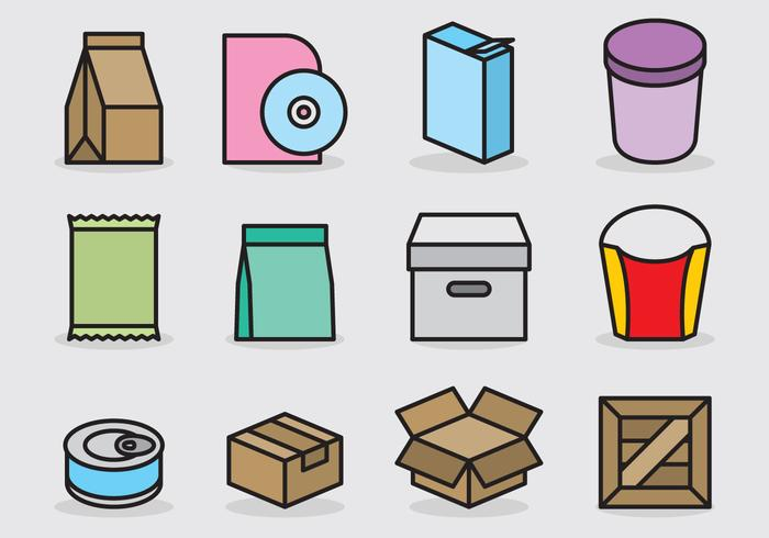 Cute Packaging Icons.