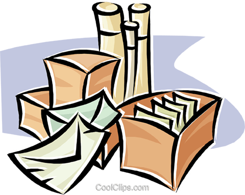 shipping packages Royalty Free Vector Clip Art illustration.