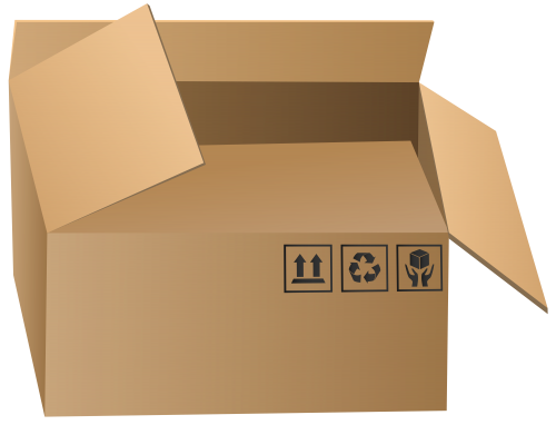 Open Packaging Box PNG Clip Art.