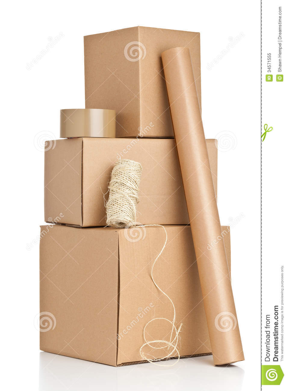 Packaging Materials Royalty Free Stock Photo.