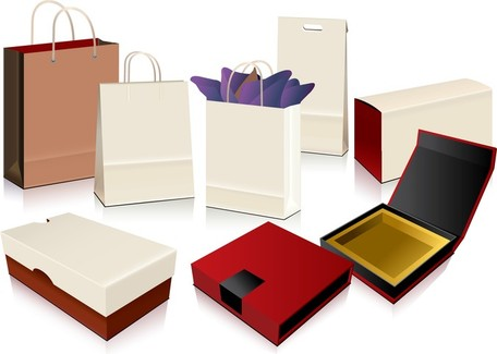 Empty Shopping Bag Packaging, free vectors.