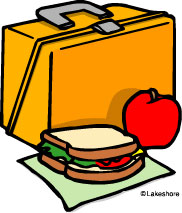 Packed lunch clipart.