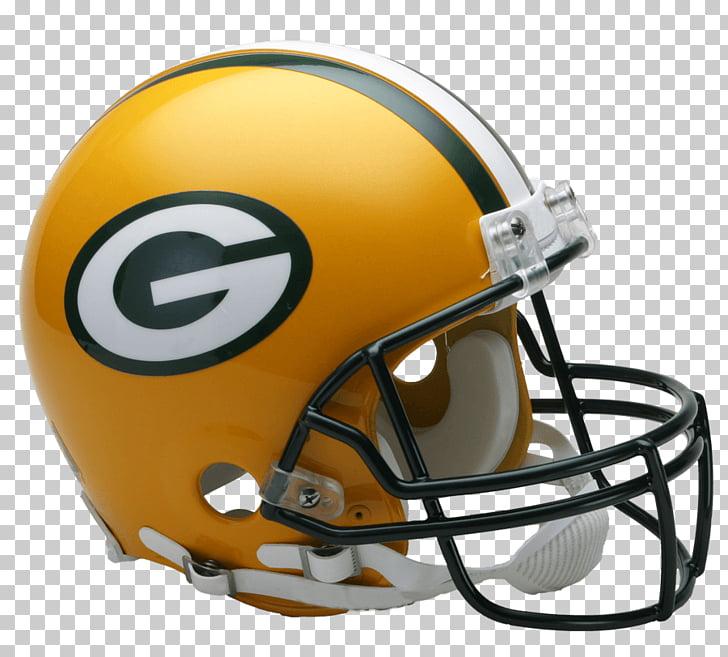 Green Bay Packers Helmet, yellow and green Gators NFL helmet.