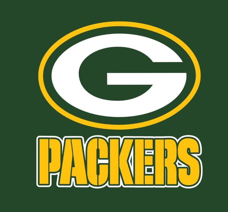Green Bay Packers Font.