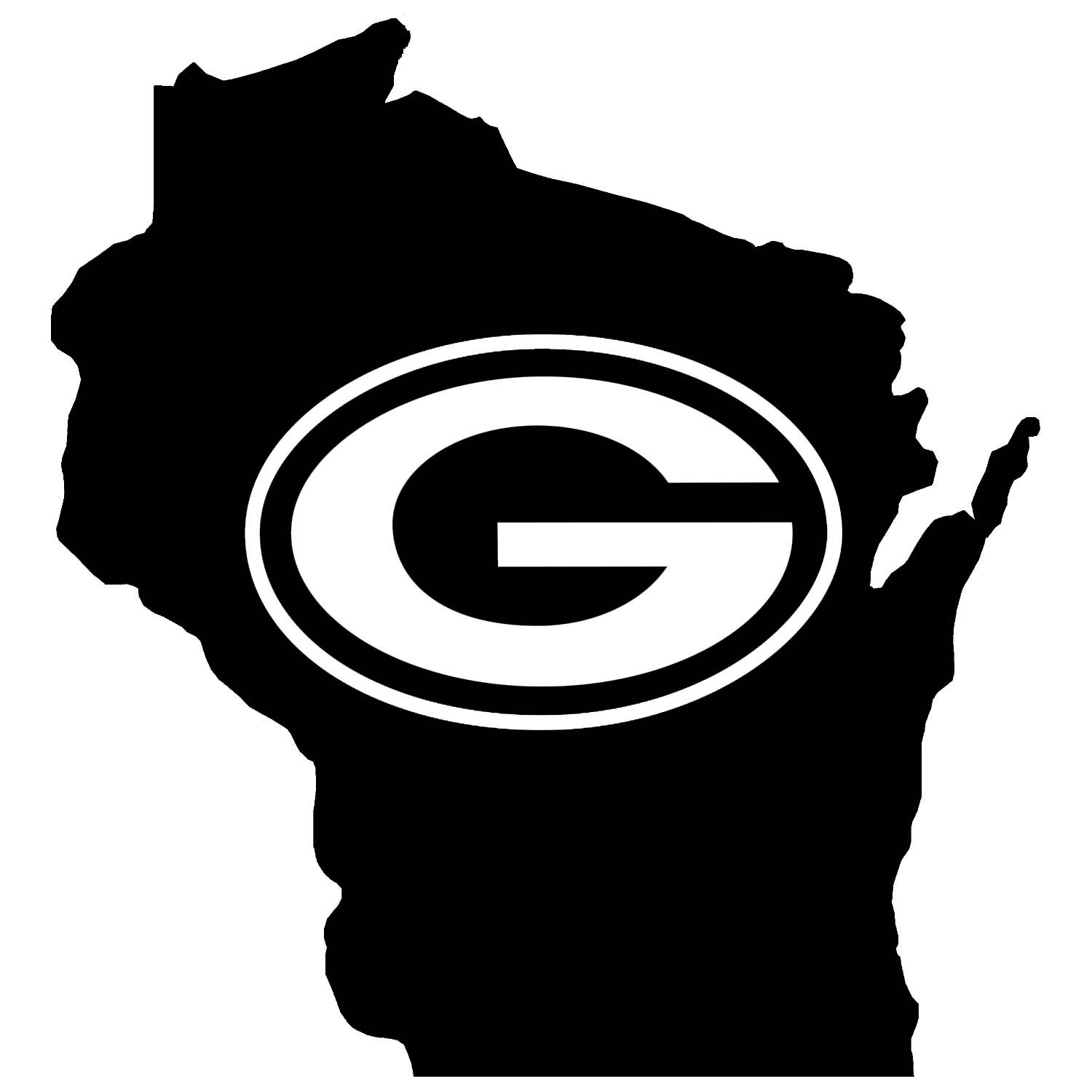 Free Black And White Green Bay Packers Logo, Download Free.