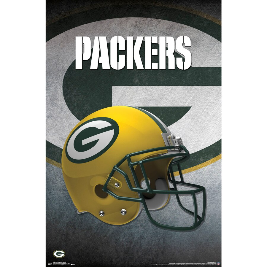 Green Bay Packers Helmet 22\'\' x 34\'\' Logo Poster.