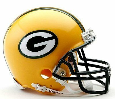 Green Bay Packers NFL Football Team Logo Riddell Mini Helmet.
