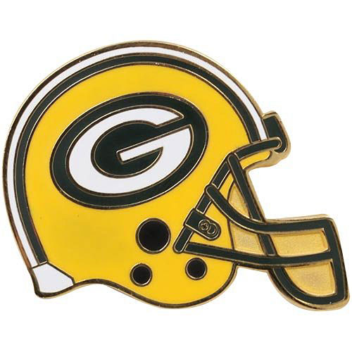 NFL helmet pin badge Packers (B) Green Bay Packers Helmet Pin (B).