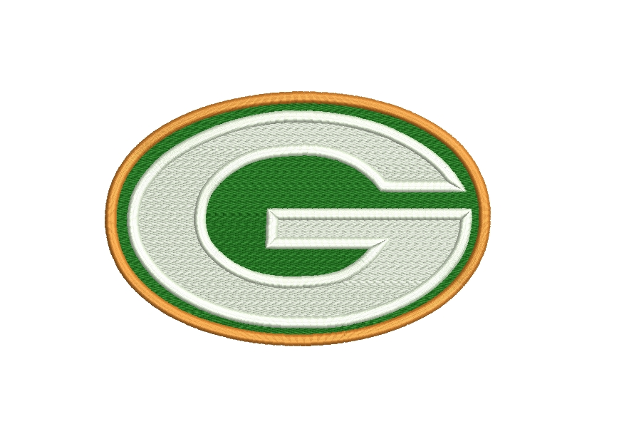 Green Bay Packers embroidery design INSTANT download Green Bay logo machine  embroidery.
