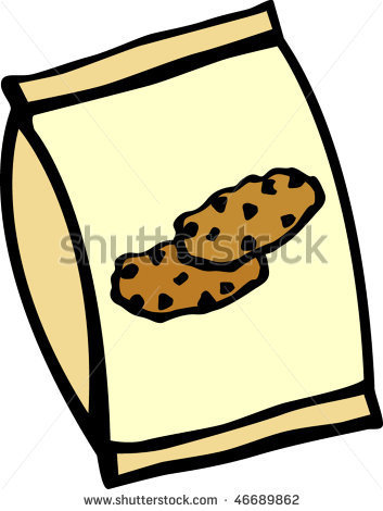 Biscuit packet clipart.