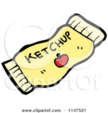Cartoon of a Ketchup Packet.