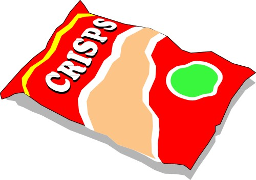 Cartoon Packet Of Crisps.