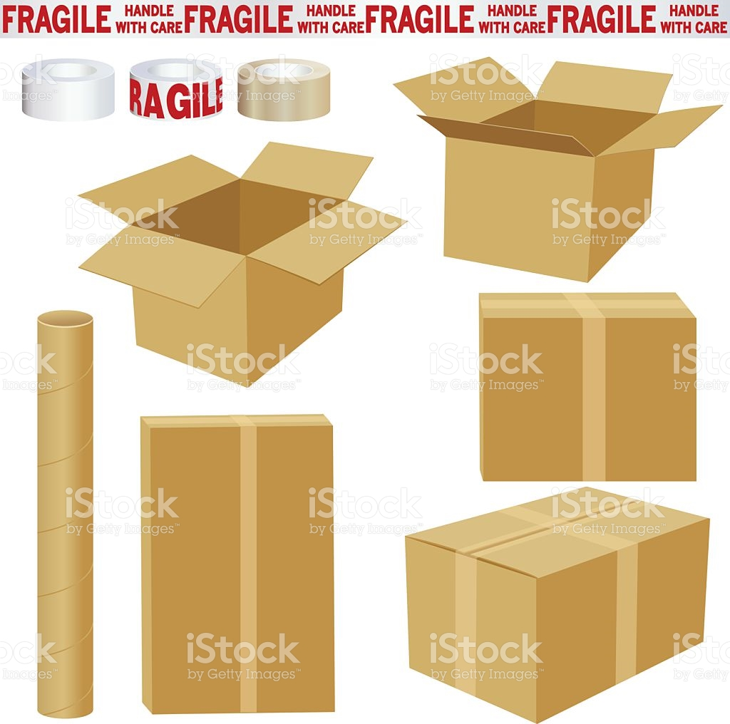 Boxes And Packing Materials stock vector art 118126305.