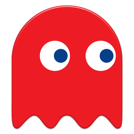 Pacman Red Ghost transparent PNG.