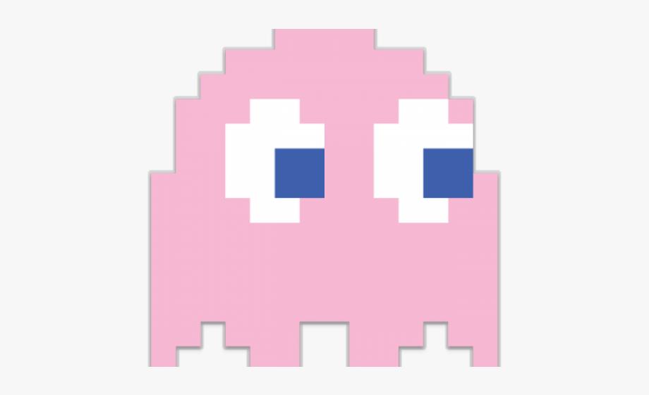 Pixel Clipart Pacman Ghost.
