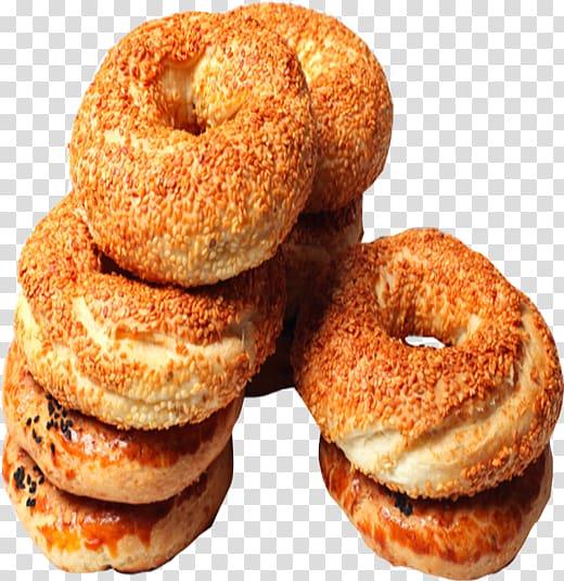 Cider doughnut Simit Bagel Bakery Pączki, bagel transparent.