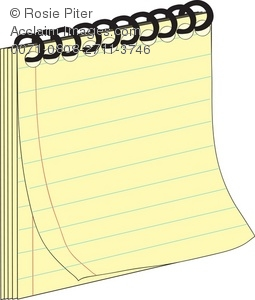 Royalty Free Clipart Illustration of a Spiral Note Pad.
