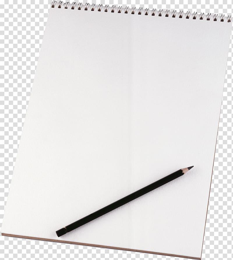Black pencil on white sketch pad, Paper Sheet Pencil.
